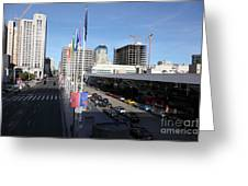 San Francisco Moscone Center And Skyline - 5d20511 Greeting Card by Wingsdomain Art and Photography
