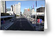 San Francisco Moscone Center And Skyline - 5d20513 Greeting Card by Wingsdomain Art and Photography