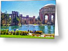 San Francisco - Palace Of Fine Arts - 02 Greeting Card by Gregory Dyer