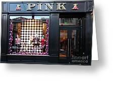 San Francisco Pink Storefront - 5d20565 Greeting Card by Wingsdomain Art and Photography