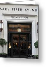 San Francisco Saks Fifth Avenue Store Doors - 5d20573 Greeting Card by Wingsdomain Art and Photography