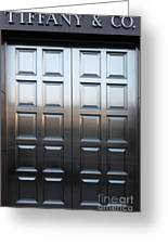 San Francisco Tiffany And Company Store Doors - 5d20561 Greeting Card by Wingsdomain Art and Photography
