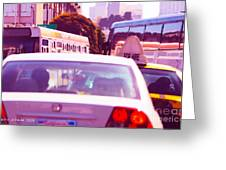 San Francisco Traffic Jam Greeting Card by Artist and Photographer Laura Wrede