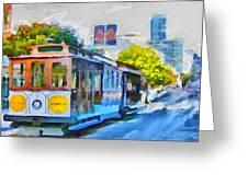 San Francisco Trams 4 Greeting Card by Yury Malkov
