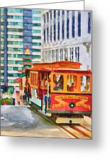 San Francisco Trams 6 Greeting Card by Yury Malkov