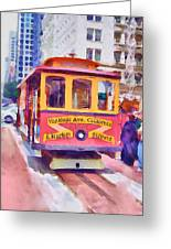 San Francisco Trams 7 Greeting Card by Yury Malkov