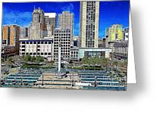 San Francisco Union Square 5D17938 Artwork Greeting Card by Wingsdomain Art and Photography