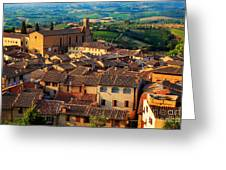 San Gimignano From Above Greeting Card by Inge Johnsson