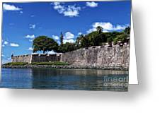 San Juan Wall Greeting Card by John Rizzuto