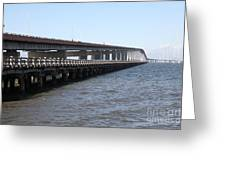 San Mateo Bridge In The California Bay Area 5d21892 Greeting Card by Wingsdomain Art and Photography