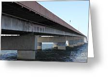 San Mateo Bridge In The California Bay Area 5d21897 Greeting Card by Wingsdomain Art and Photography