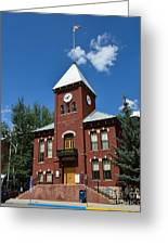 San Miguel County Courthouse Greeting Card by Dave Hutchinson