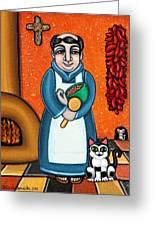 San Pascual And Felix Greeting Card by Victoria De Almeida