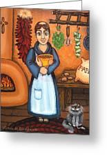 San Pascual Bad Kitty Greeting Card by Victoria De Almeida