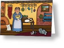 San Pascuals Kitchen 2 Greeting Card by Victoria De Almeida