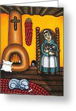 San Pascuals Nap Greeting Card by Victoria De Almeida