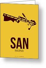 San San Diego Airport Poster 1 Greeting Card by Naxart Studio