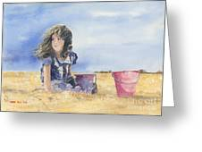 Sand Castle Dreams Greeting Card by Monte Toon