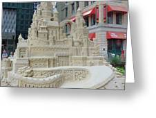 Sand Castle Greeting Card by James Dolan