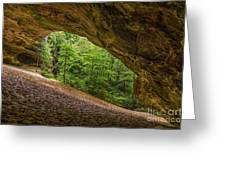 Sand Cave Greeting Card by Anthony Heflin