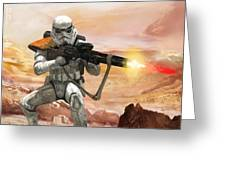 Sand Trooper - Star Wars The Card Game Greeting Card by Ryan Barger