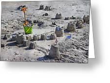 Sandcastle Squatters Greeting Card by Betsy C  Knapp