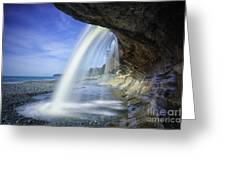 Sandcut Beach Greeting Card by Carrie Cole