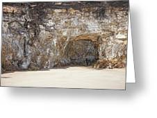 Sandstone Cave Greeting Card by Douglas Barnard
