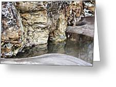 Sandstone Reflections Greeting Card by Douglas Barnard