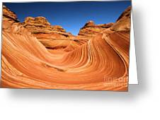 Sandstone Surf Greeting Card by Adam Jewell