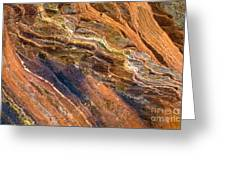 Sandstone Tapestry Greeting Card by Mike  Dawson
