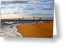 Sandy Bay Bridge Greeting Card by Jennifer Casey