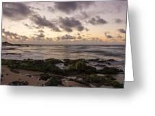 Sandy Beach Sunrise 10 - Oahu Hawaii Greeting Card by Brian Harig