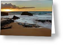 Sandy Beach Sunrise 7 - Oahu Hawaii Greeting Card by Brian Harig