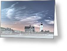 Sandy Neck Lighthouse Greeting Card by Susan Candelario