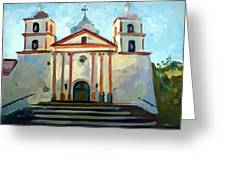 Santa Barbara Mission Greeting Card by Filip Mihail