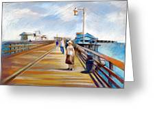 Santa Barbara Pier Greeting Card by Filip Mihail