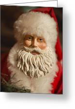 Santa Claus - Antique Ornament - 07 Greeting Card by Jill Reger