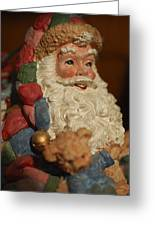 Santa Claus - Antique Ornament - 09 Greeting Card by Jill Reger