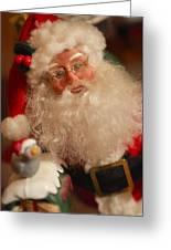 Santa Claus - Antique Ornament - 11 Greeting Card by Jill Reger