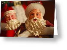 Santa Claus - Antique Ornament - 12 Greeting Card by Jill Reger