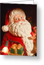 Santa Claus - Antique Ornament - 13 Greeting Card by Jill Reger