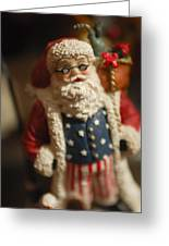 Santa Claus - Antique Ornament - 15 Greeting Card by Jill Reger