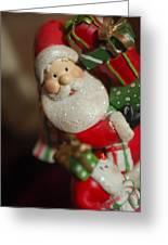 Santa Claus - Antique Ornament - 28 Greeting Card by Jill Reger