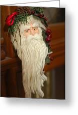 Santa Claus - Antique Ornament - 29 Greeting Card by Jill Reger