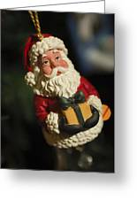Santa Claus - Antique Ornament - 31 Greeting Card by Jill Reger