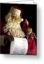 Santa Claus Greeting Card by Diane Diederich