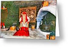Santa Claus Greeting Card by George Rossidis