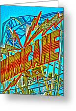 Santa Cruz Boardwalk - Hurricane Greeting Card by Gregory Dyer