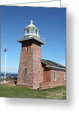 Santa Cruz Lighthouse Surfing Museum California 5d23937 Greeting Card by Wingsdomain Art and Photography